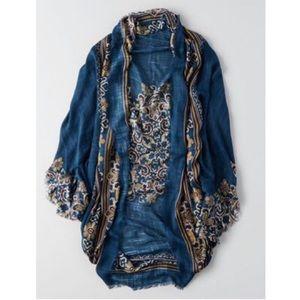 AEO Floral Woven Kimono